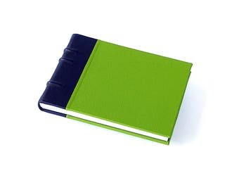 Green Tightback Sketchbook - Foldable spine