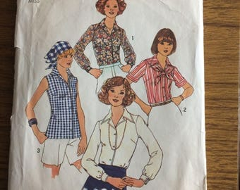Simplicity 7353 1976 Shirt or Blouse Sewing Pattern 18