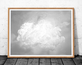 Clouds Wall Print, Cloud Print Art, Sky Print, Black and White Wall Art Print, Cloud Photo, Printable Art, Sky Wall Art, Cloud Art, Cloud