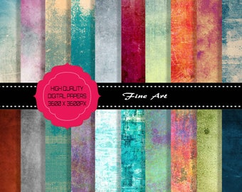 Buy 3 get one free. 20 x Fine Art Grunge Digital Textures, Large Pack, High Resolution and Quality, Instant Download.