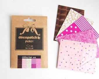 Decopatch Pocket Collection No.3 - Set of 5 Decoupage papers