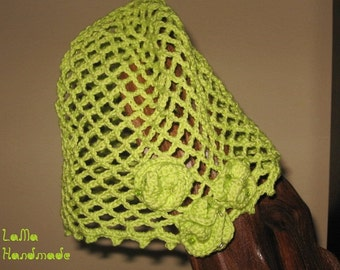 Crocheted hat and shawl