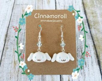 Cinnamoroll Kawaii Swarovski Crystal Earrings