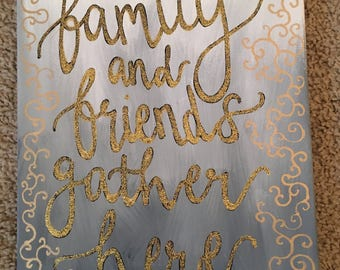 family and friends canvas