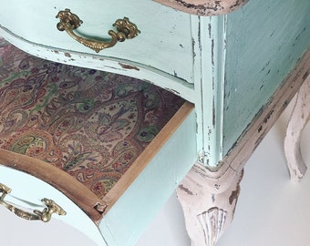 Bedside Cabinet vintage painted hand