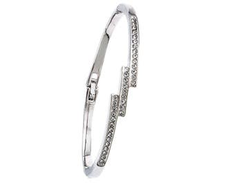 Cabouchon Triple Sparkle Bangle With Swarovski Crystals