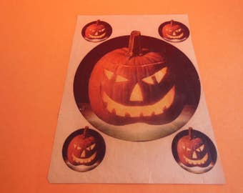 Vintage Halloween Jack O'Lantern Iron On Transfers, Woman's Day Magazine Dated: October 18, 1977 Awesome Framed!