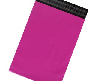 Hot Pink Poly Mailers - Pack of 100 - Free Shipping