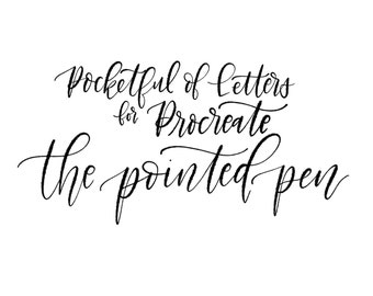 """Procreate """"The Pointed Pen"""" by Pocketful of Letters"""