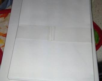 Custom card on large cream blank