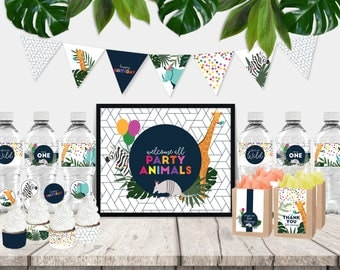 Party Animals Printable Party Decor Pack