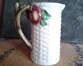 Made in Japan apple and basket weave pitcher8