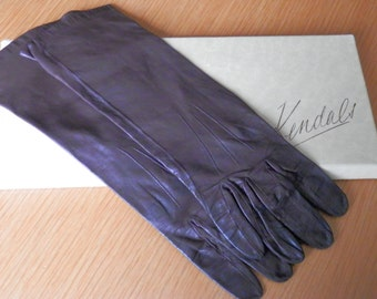 Brown Leather Ladies Gloves Vintage Small 61/2 Brand Milore Kendals Manchester England