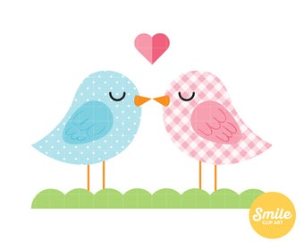 Lovebirds Clipart for Commercial Use - C0106