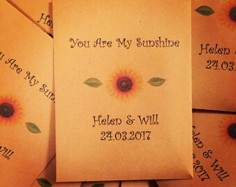 Personalised Sunflower Seeds