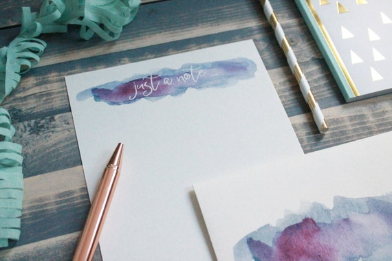 Watercolor Note Letter Writing Set | Writing Paper | Stationery Gift Set | Gift For Her | Tween ...