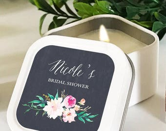 Personalized Garden Candle Favors-garden wedding, floral wedding favors, garden favors, floral candle favors