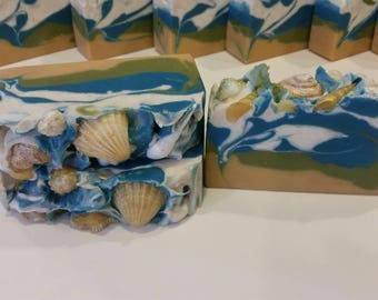 Salty Sea Air scented Vegan Handmade Cold Process Soap