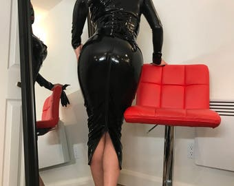 Latex MISTRESS HOBBLE Skirt 0.30mm 2-way ZIP