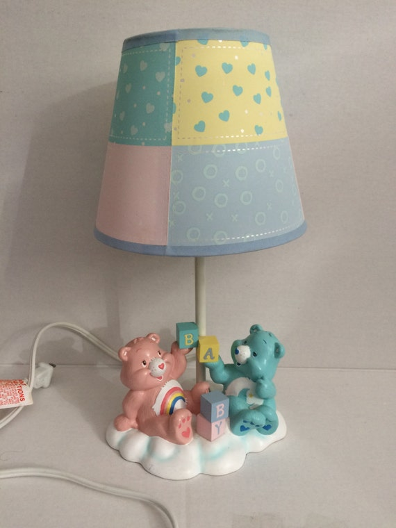 Vintage care bears lampe 80er jahre care bears von sipscafevintage