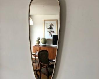 Mirror asymmetric mirror 78 x 30 vintage 1960