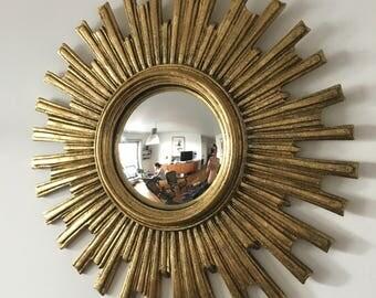 Mirror Sun eye of witch 51cm vintage 1960