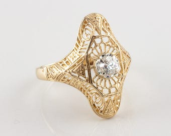 Vintage Edwardian Diamond Ring, 0.30 ct