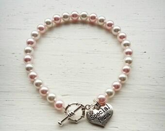 Nana bracelet- mother's day gift- nana gift- pearl bracelet- Christmas gift- special nana- Swarovski pearl- gift to grandmother- nana