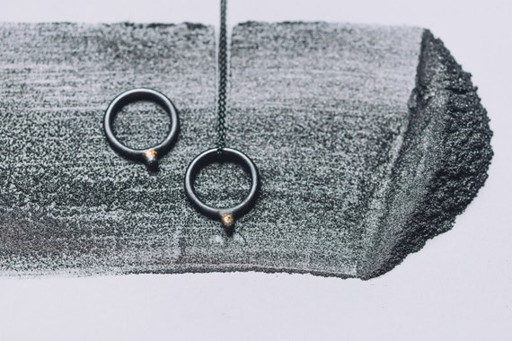 EMD joaillière / Emilie dell Aniello - Pendant - Ring, Gilles collection / / unisex - minimalist - geometric jewelry