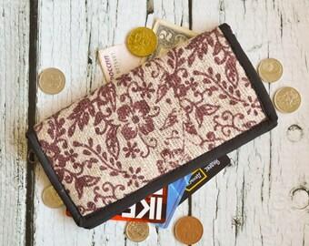Hemp Wallet with flowers print