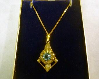 Vintage Pendant Necklace-Gold Filled