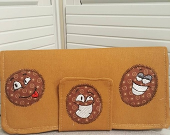 Adorable Poop Emoji Print Wallet