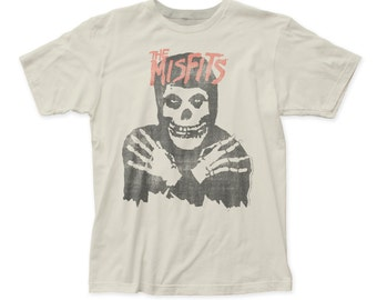 The Misfits classic skull distressed fitted jersey tee (MIS15)