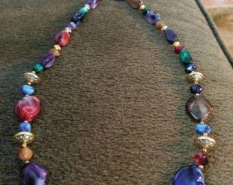 Beautiful Lucite Necklace
