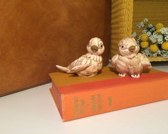 SALE 20% OFF Vintage ceramic bird tealight holders
