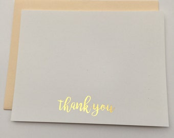 Foil Thank You Cards (Gold, Rose Gold, and Silver) - set of 10