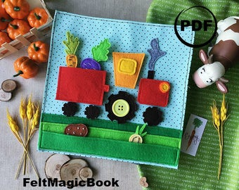 TRACTOR | PDF | Quiet Book | Felt Busy Book | Toddler book | Activity Book | Fabric quiet book | Pattern
