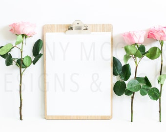 Three Standing Roses | Styled Stock Photography