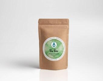 Tea Tree Sensitive Body Sugar Scrub [Vegan & Organic] Teal Anchor