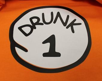 Drunk 1, 2, 3 Thing 1 Thing 2 Style Custom Listing in Next Level Unisex Premium