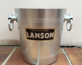 Vintage French Champagne French Ice Bucket Cooler Made in France LANSON 3