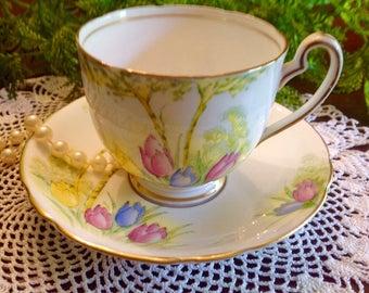 Melba fine bone china teacup & saucer