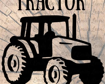 Tractor SVG - Tractor SVGs - Cut Files - SVGs - Svg Files - Svg Cut Files - Silhouette - Cricket - Svg Cuts - Cricket Files - Decal - Vinyl