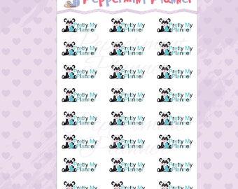 Making My Planner Pretty Panda Planner Stickers #331