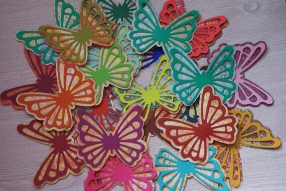 Butterfly gift tags 3d butterflies kawaii butterflies for Room decor embellishment art 3d