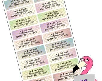 Personalised Return Address Labels - Mermaid