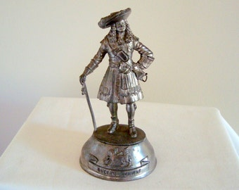 Vintage Chas Stadden English Pewter Miniature/ Tin Soldier Queen's Dowager Regiment Of Foot Soldier in 1686 uniform