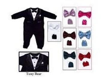 Tuxedo bow-tie & hankie set