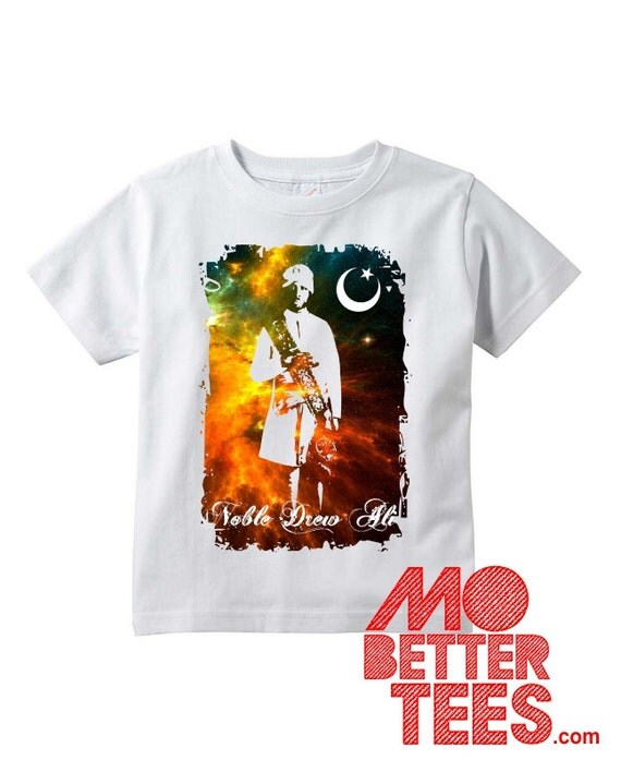 Noble Drew Ali Cosmos Youth T-Shirt White choose from 3 different colorways