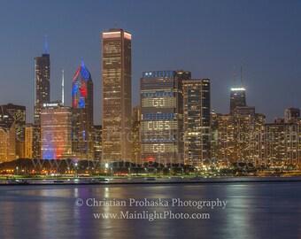 Go Cubs Go! Chicago Skyline